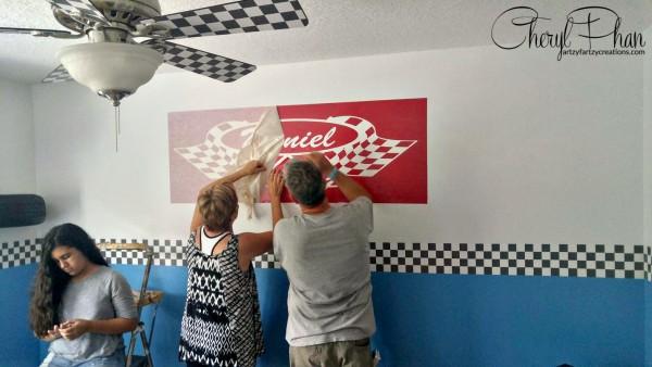 Race Car Boys Room Cheryl Phan Wall Stencil