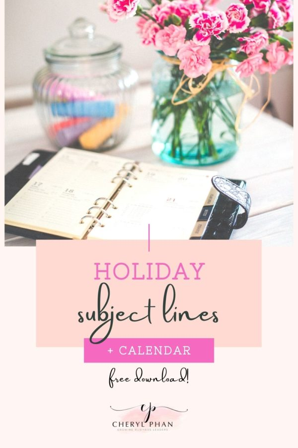 Holiday Subject Lines and Calendar_Cheryl Phan