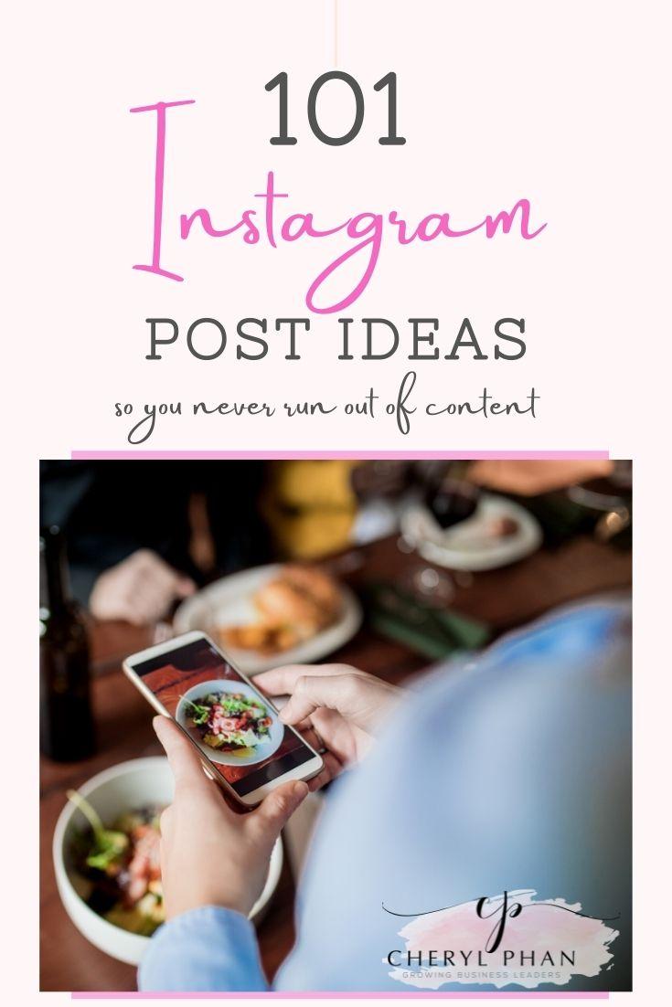 101 Instagram Post Ideas_Cheryl Phan