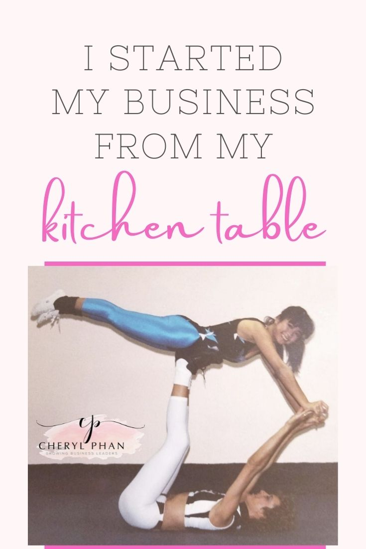 I started my business from my kitchen table